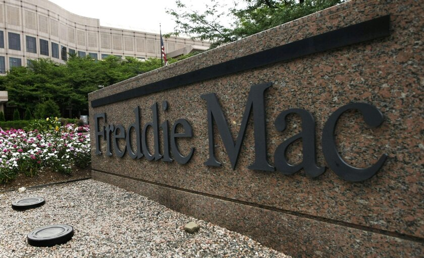 FILE - This July 13, 2008 file photo shows Freddie Mac's corporate offices in McLean, Va. Freddie Mac reports quarterly financial results on Thursday, Aug. 7, 2014. (AP Photo/Pablo Martinez Monsivais, File)