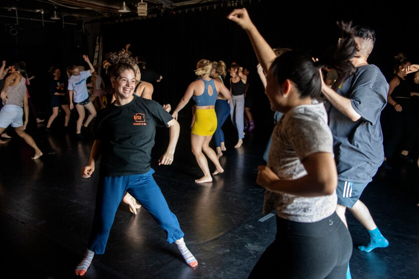 A morning Dance Church class at Ryan Heffington's the Sweat Spot.