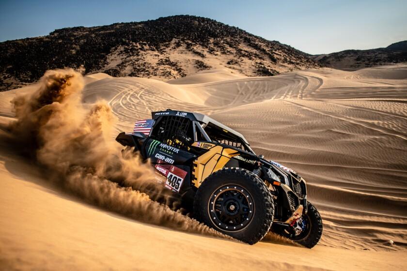 "Casey Currie takes part in a ""shakedown"" test run in Jeddah, Saudi Arabia, in January 2020."