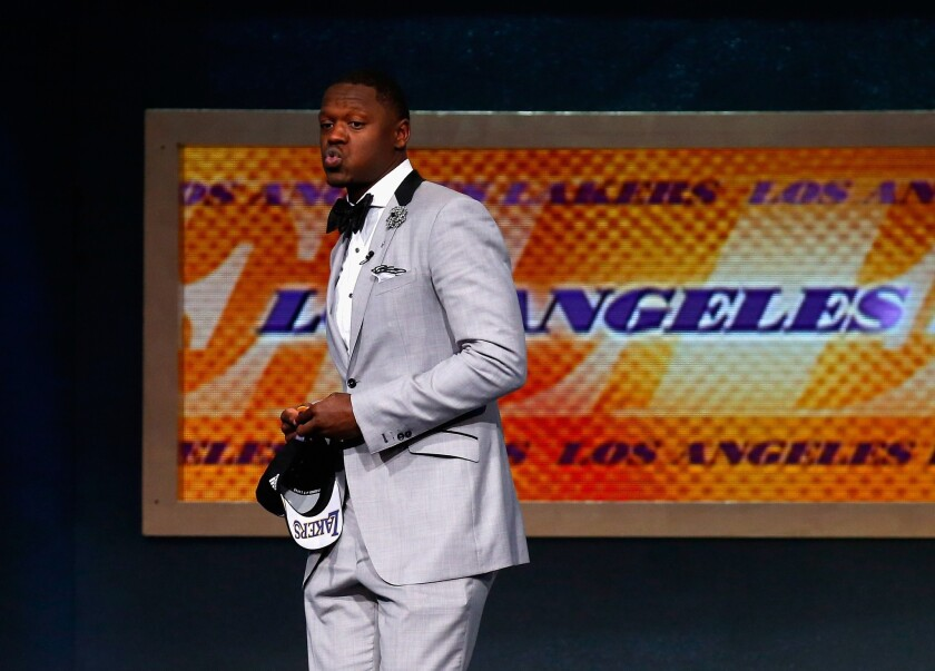 The Lakers selected Julius Randle out of Kentucky with the No. 7 overall pick in the 2014 NBA Draft.