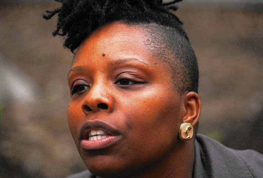 Patrisse Cullors leads the Coalition to End Sheriff Violence in Los Angeles. She is hoping to establish a civilian commission to oversee the troubled L.A. County Sheriff's Department.