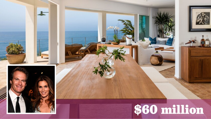 Supermodel Cindy Crawford and her husband, businessman Rande Gerber, have listed a compound in Malibu for sale at $60 million. They bought the oceanfront property last year for $50.5 million.