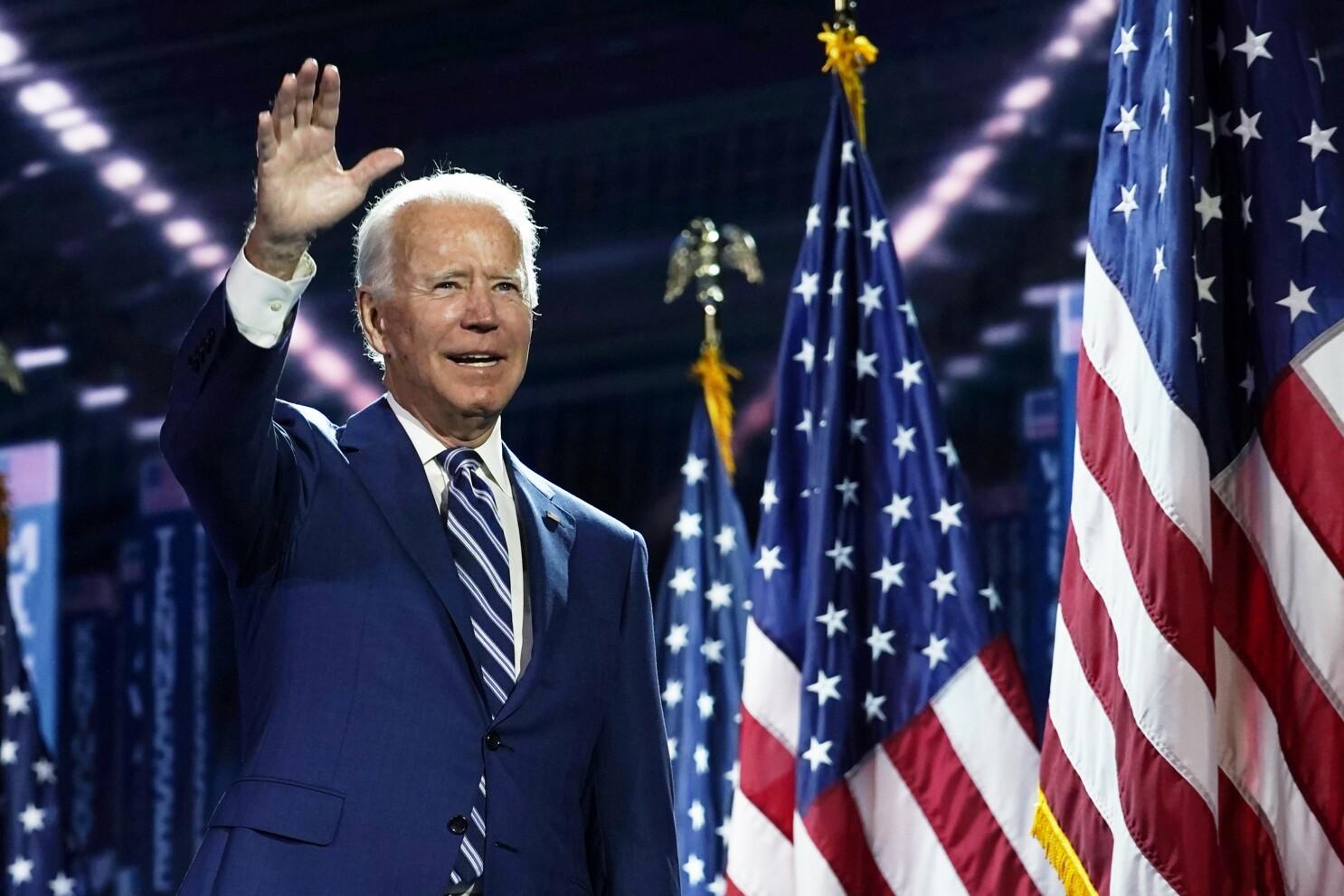 Dnc 2020 Thursday Lineup Joe Biden Andrew Yang Common Los Angeles Times