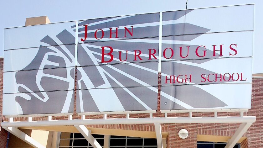 John Burroughs High School in Burbank.