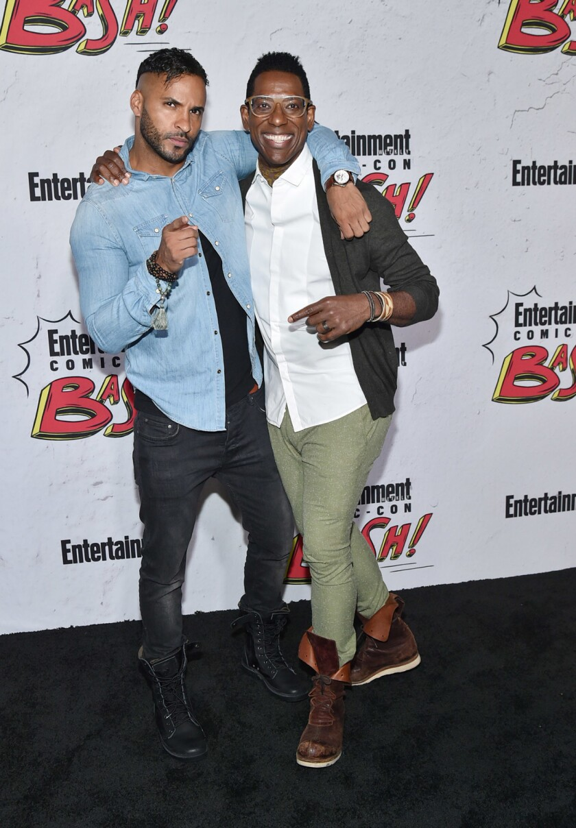 Ricky Whittle and Orlando Jones at Entertainment Weekly's annual Comic-Con party. (Mike Coppola/Getty Images for Entertainment Weekly)