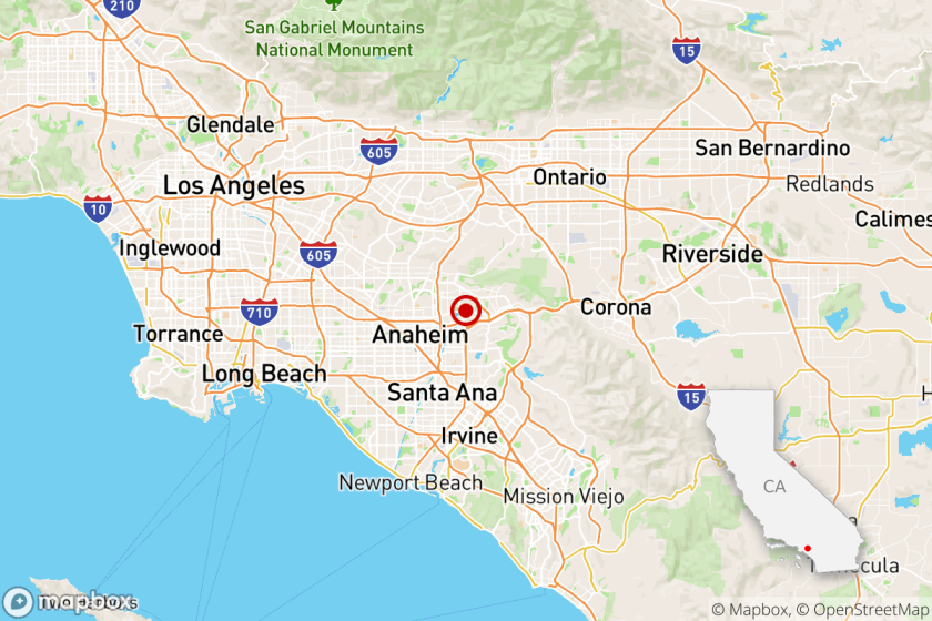 Map showing magnitude 3.5 in Placentia