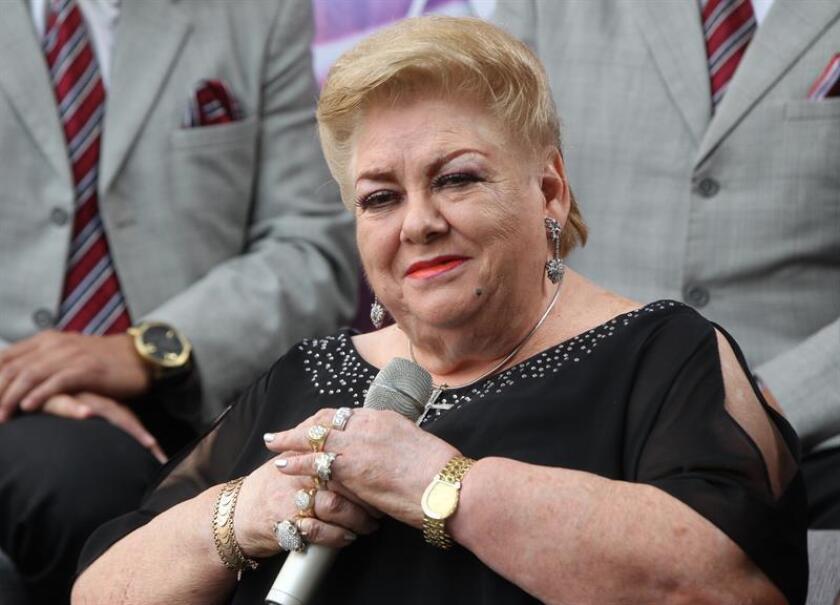 Fotografía del 3 de marzo de 2019, de la cantante mexicana Paquita la del Barrio en Ciudad de México (México). EFE