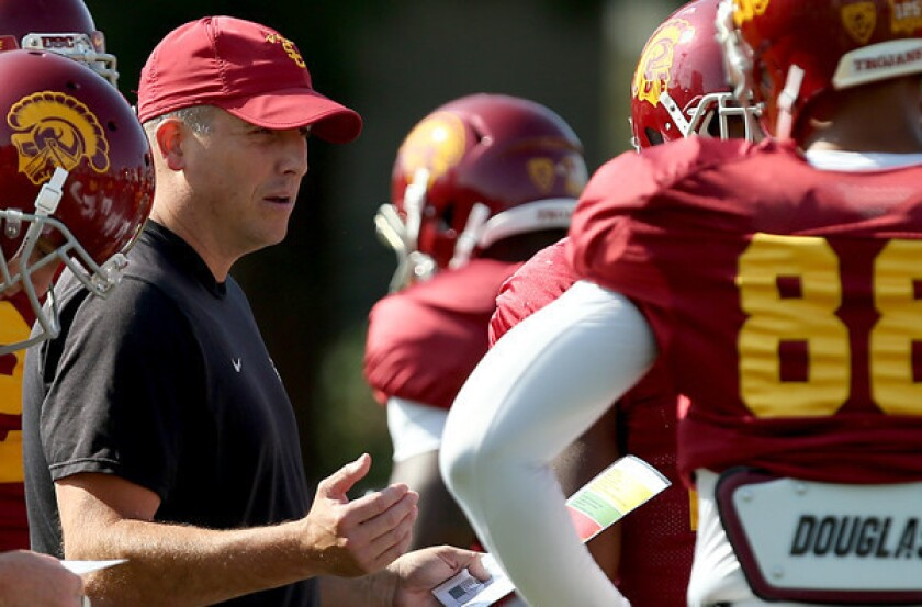 With little job security, USC coaches prepare for Las Vegas Bowl