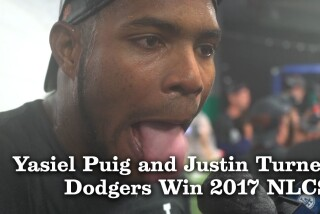 Yasiel Puig and Justin Turner discuss winning the 2017 NLCS