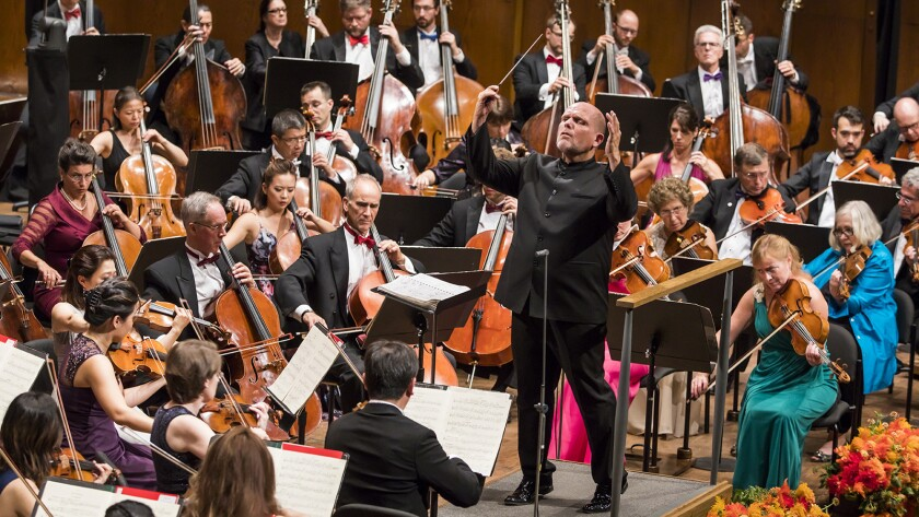 "Conductor Jaap van Zweden in ""Live From Lincoln Center "" on PBS."