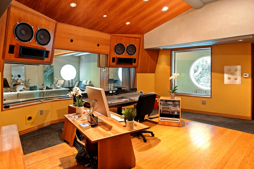 The Spanish-style compound, which counts musicians Bobby Darin and Tak Matsumoto among its former owners, features a permitted recording studio.
