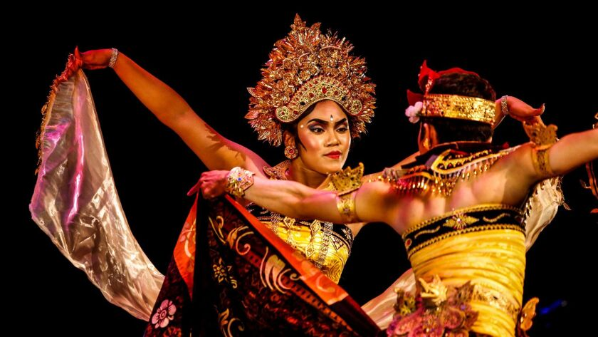 The Cudamani ensemble from Bali performs at the Broad Stage in Santa Monica.
