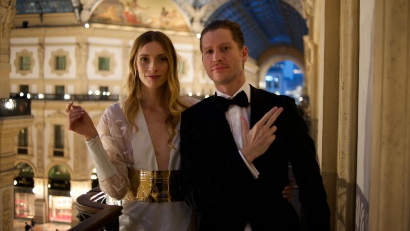"(L-R) - Carola Insolera and Emilio Insolera in a scene from ""Sign Gene."" Credit: Pluin Productions"