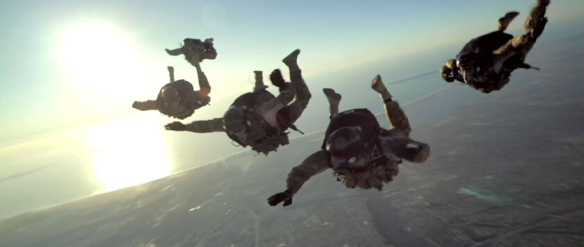 """Navy SEALs train on a high altitude low opening jump in Relativity's Media's""""Act of Valor"""".  Credit: IATM LLC    Relativity Media, LLC."""