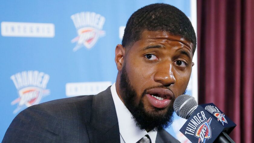 Paul George has expressed a desire to join the Lakers, but he is on the Oklahoma City Thunder for the upcoming season.