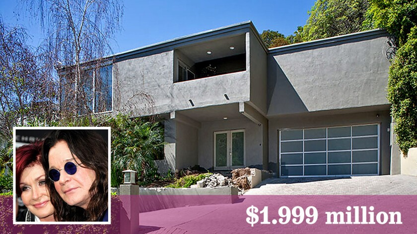 A pair of unfinished properties owned by Ozzy Osbourne and his wife, Sharon Osbourne, have come on the market in Hollywood Hills West at $1.999 million each.