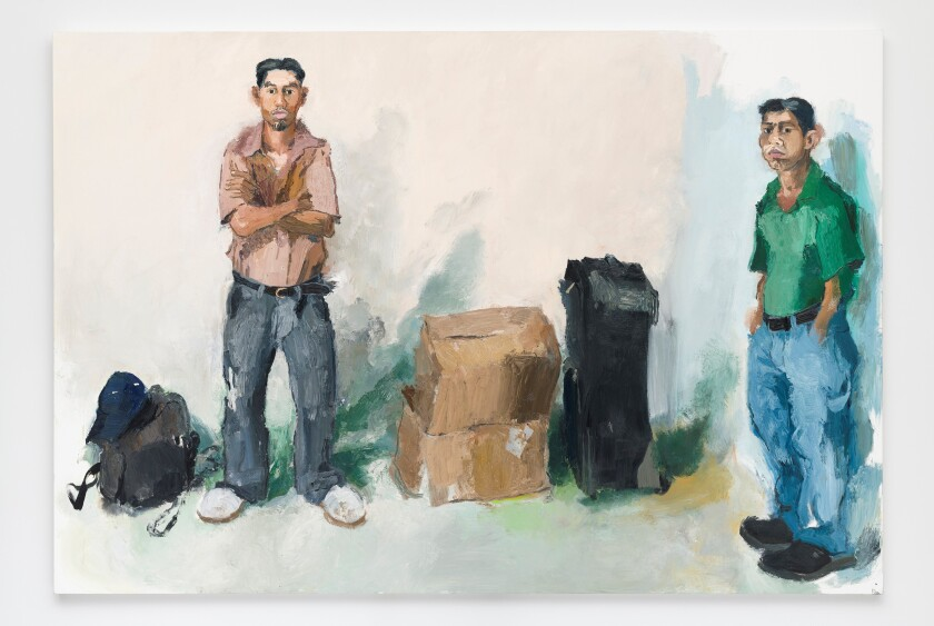 """Saul and Lorenzo"" by John Sonsini, 2008. Oil on canvas, 82 inches by 120 inches"
