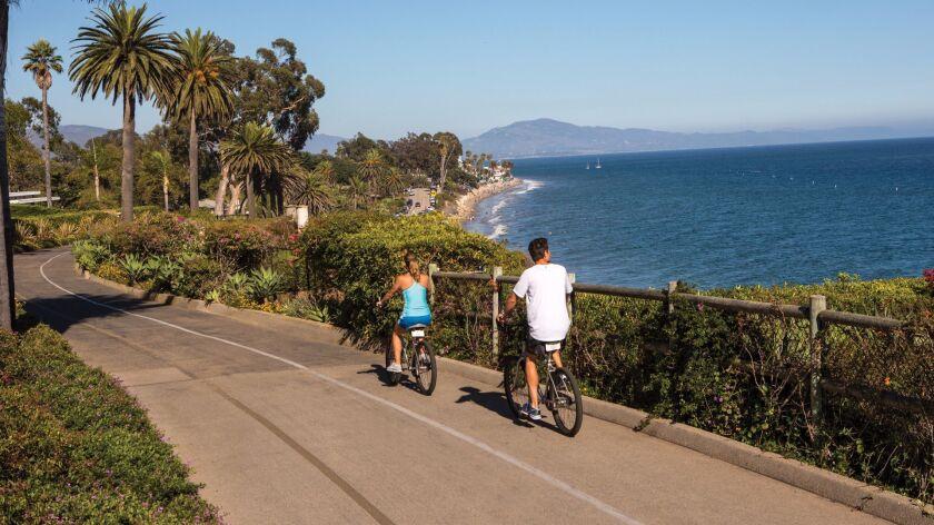 The ocean view at the Four Seasons Resort The Biltmore in Santa Barbara.