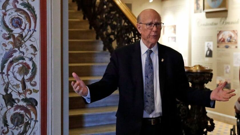 Sen. Pat Roberts, R-Kan., is seen on Capitol Hill on Oct. 5, 2018. Roberts, chair of the Senate agriculture committee, confirmed Nov. 29 that a farm bill deal does not include House GOP plans to add new work requirements for some food stamp recipients.