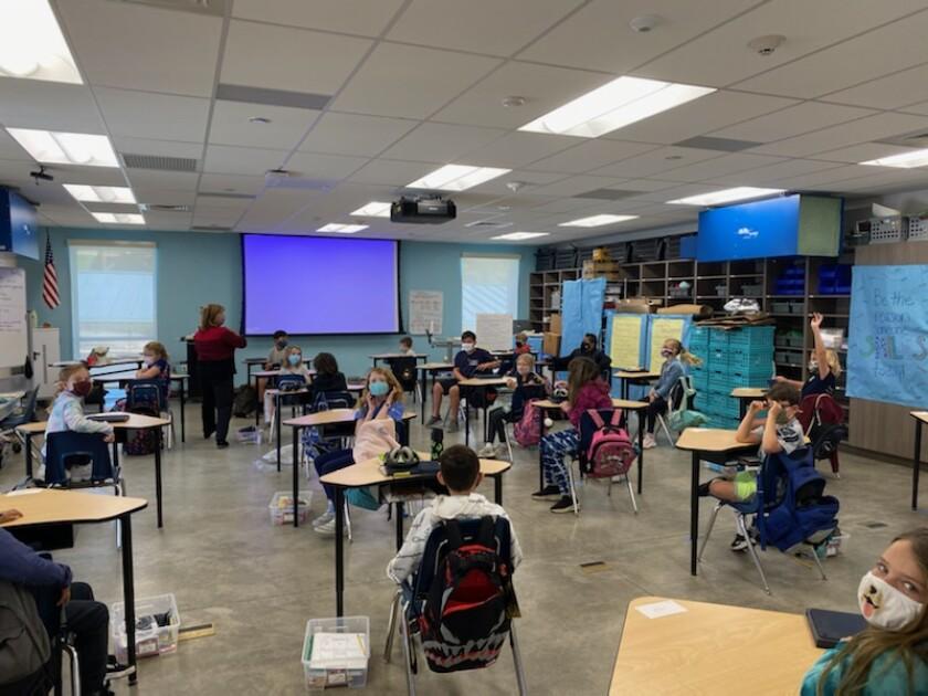 A fourth grade classroom at Skyline School.