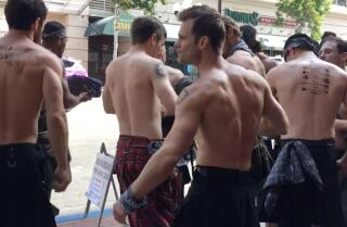 Outlander street team at SDCC