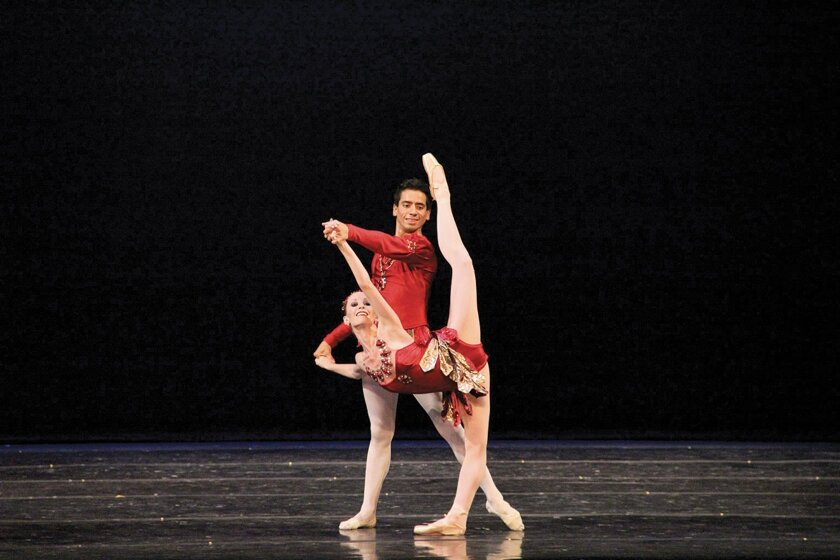 Ariana Gonzalez and Gerardo Gill in 'Rubies' with choreography by George Balanchine