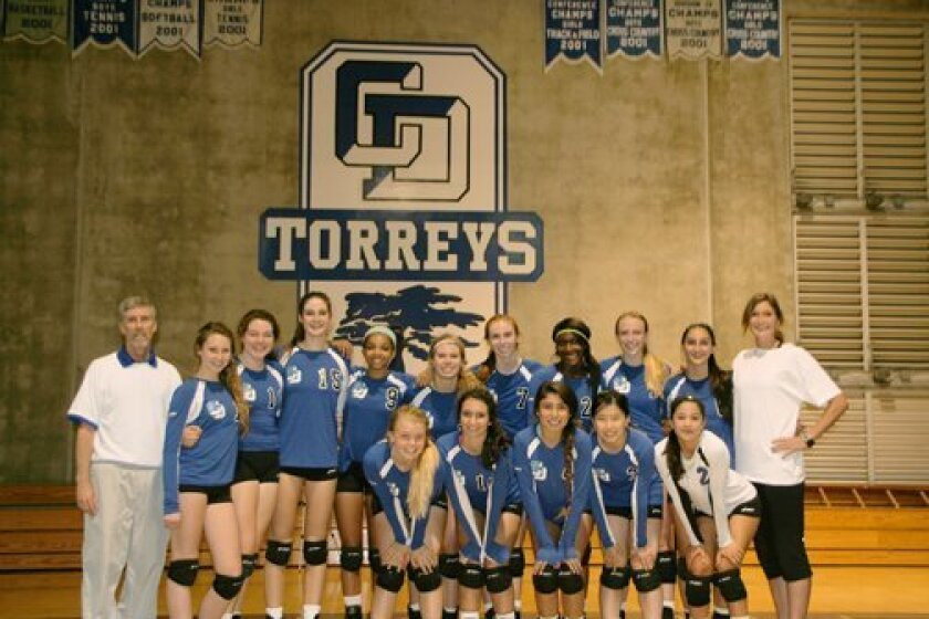 The La Jolla Country Day volleyball team. Torrey Times photo