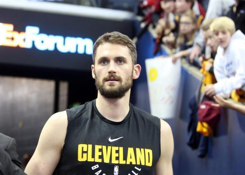 En la imagen, el ala-pívot Kevin Love de los Cavaliers de Cleveland. EFE/Archivo