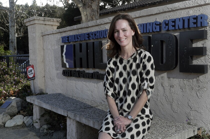 Principal Cyndi Hatcher, pictured at the Hillside School and Learning Center in La Cañada Flintridge on Friday, will become the school's next executive director in June, replacing retiring 40-year veteran Bob Frank.