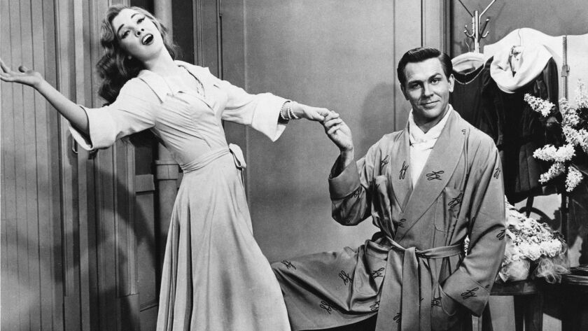 """Kathryn Grayson and Howard Keel in """"Kiss Me Kate."""" –"""
