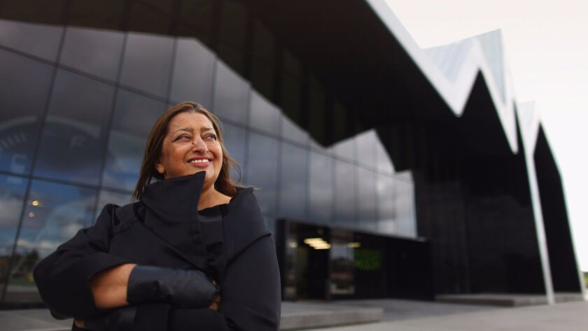 Groundbreaking architect Zaha Hadid visits the Riverside Museum, her first major public commission i