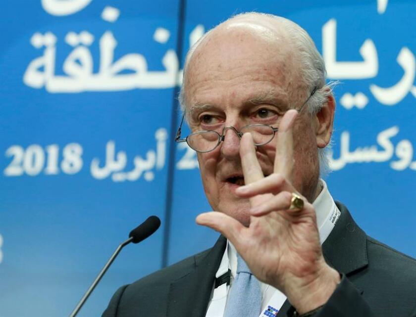 El enviado especial de la ONU en Siria, Staffan de Mistura. EFE/Archivo