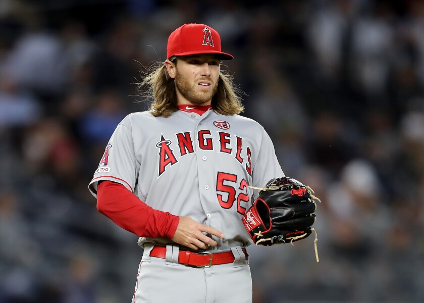 Angels pitcher Dillon Peters managed to keep his composure after giving up a two-run home run to Yankees slugger Aaron Judge.