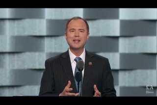 Rep. Adam Schiff of California speaks at the Democratic National Convention