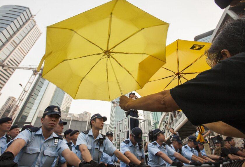 Hong Kong marks peaceful anniversary of street protests