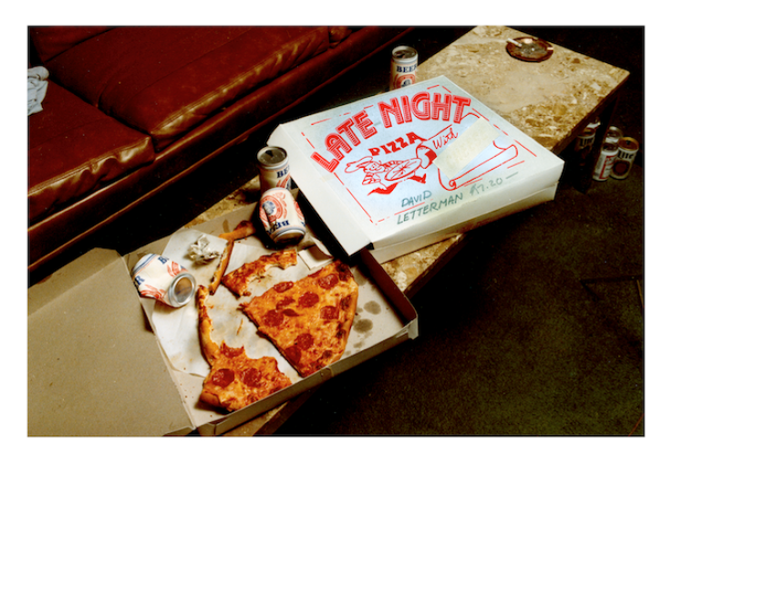 'Pizza Box 1983,' a bumper from 'Late Night With David Letterman,' was created by Marc Karzen