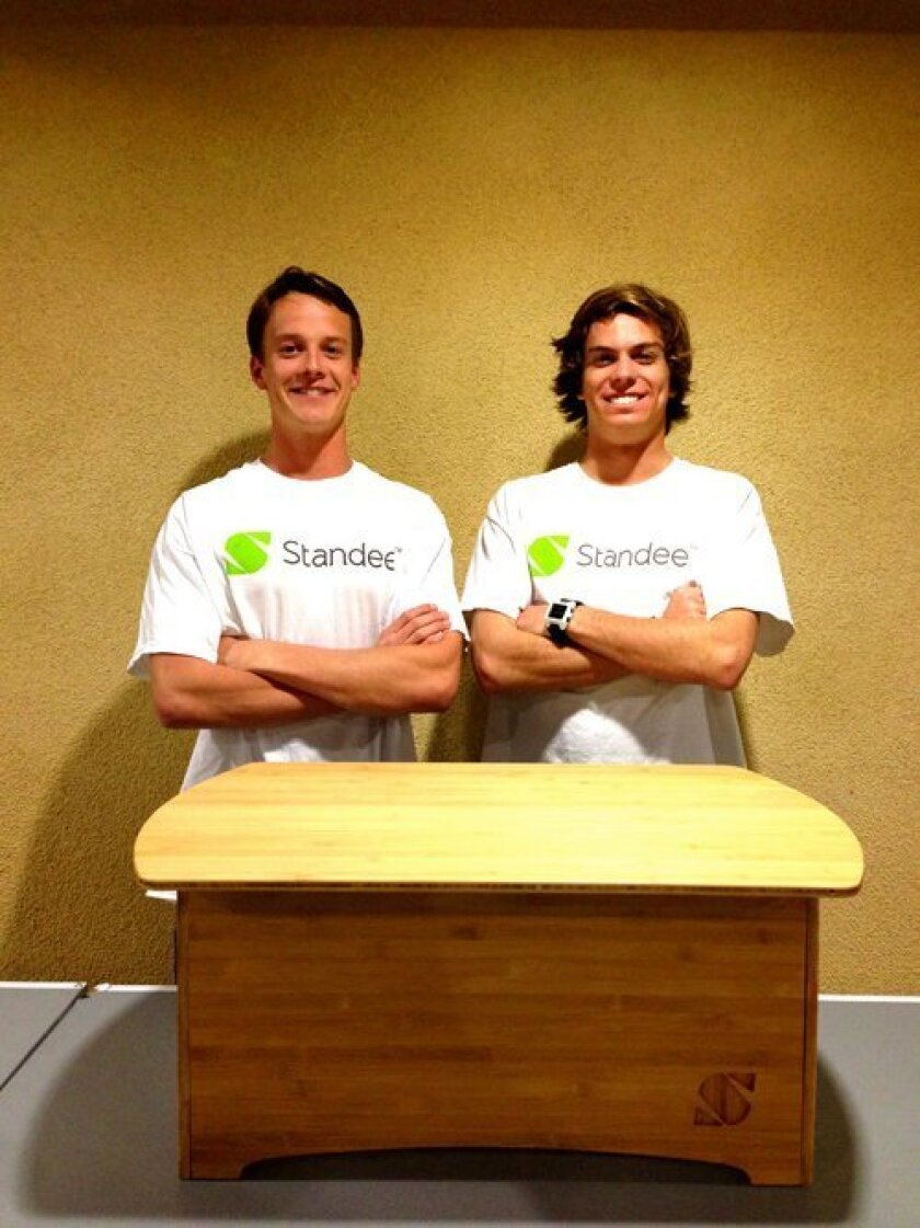 David Grotting and Reid Hollen are founders of the company Standee, designing and manufacturing stand-up desks. Courtesy photo