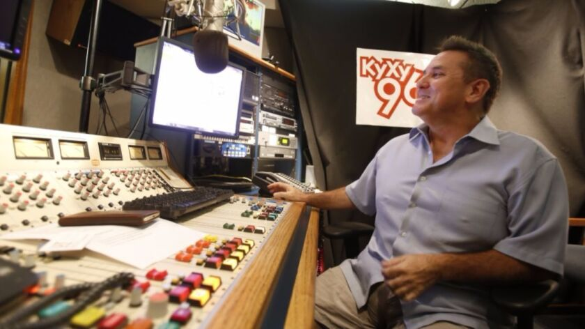 """""""Little Tommy"""" Sablan in 2015 when he was producing the """"Jeff and Jer Showgram"""" program at KyXy 96.5"""