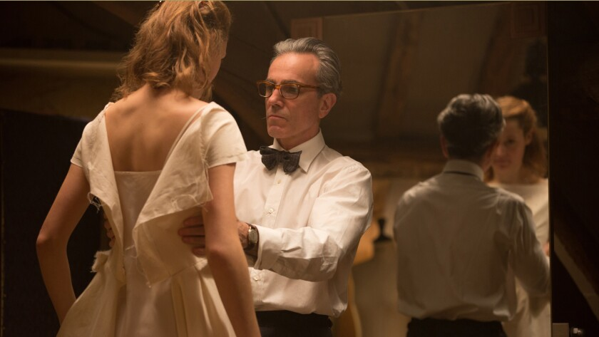"Vicky Krieps stars as ""Alma"" and Daniel Day-Lewis stars as ""Reynolds Woodcock"" in writer/director Pa"