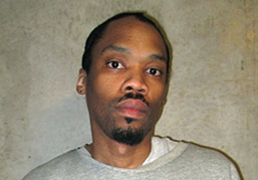 FILE - This Feb. 5, 2018, file photo provided by the Oklahoma Department of Corrections shows Julius Jones. Oklahoma scheduled its first executions Monday, Sept. 20, 2021, since the state put lethal injections on hold six years earlier following a series of mishaps. Included on the list seven executions is Jones, whose case has drawn national attention. The Oklahoma Court of Criminal Appeals scheduled Jones to die on Nov. 18 by lethal injection for the 1999 slaying of Edmond businessman Paul Howell, who was shot in front of his family during a carjacking. (Oklahoma Department of Corrections via AP, File)