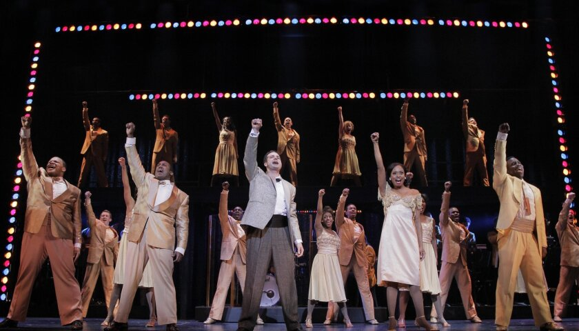 """The cast of the """"Memphis"""" touring production, now at the San Diego Civic Theatre."""