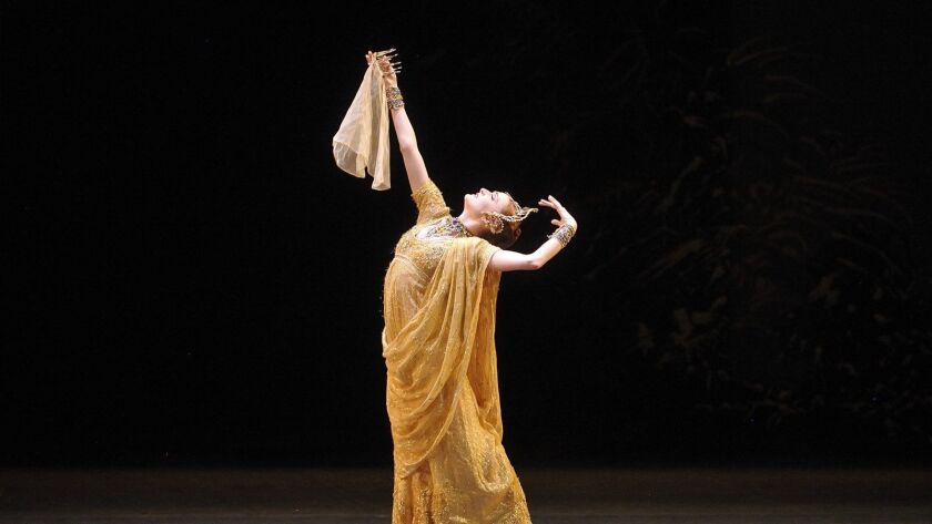 """Gillian Murphy shares the role of Gamzatti in American Ballet Theatre's production of """"La Bayadère"""" at the Dorothy Chandler Pavilion."""