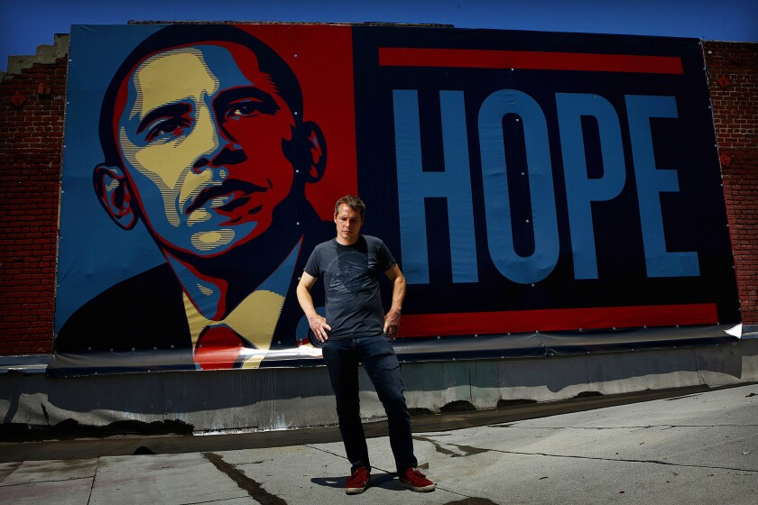 """ShepardFairey—theLos Angeles street artist famous for his """"Hope"""" poster of Barack Obama— is wanted byDetroit police forfelony vandalism and the destruction of property."""