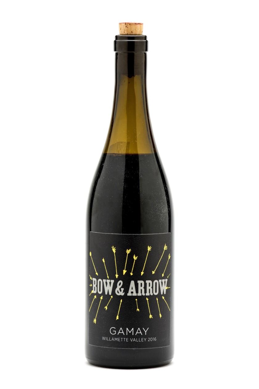 LOS ANGELES, CA - JUNE 15, 2018 - 2016 Bow&Arrow Gamay Noir, photographed in the Los Angeles Times s