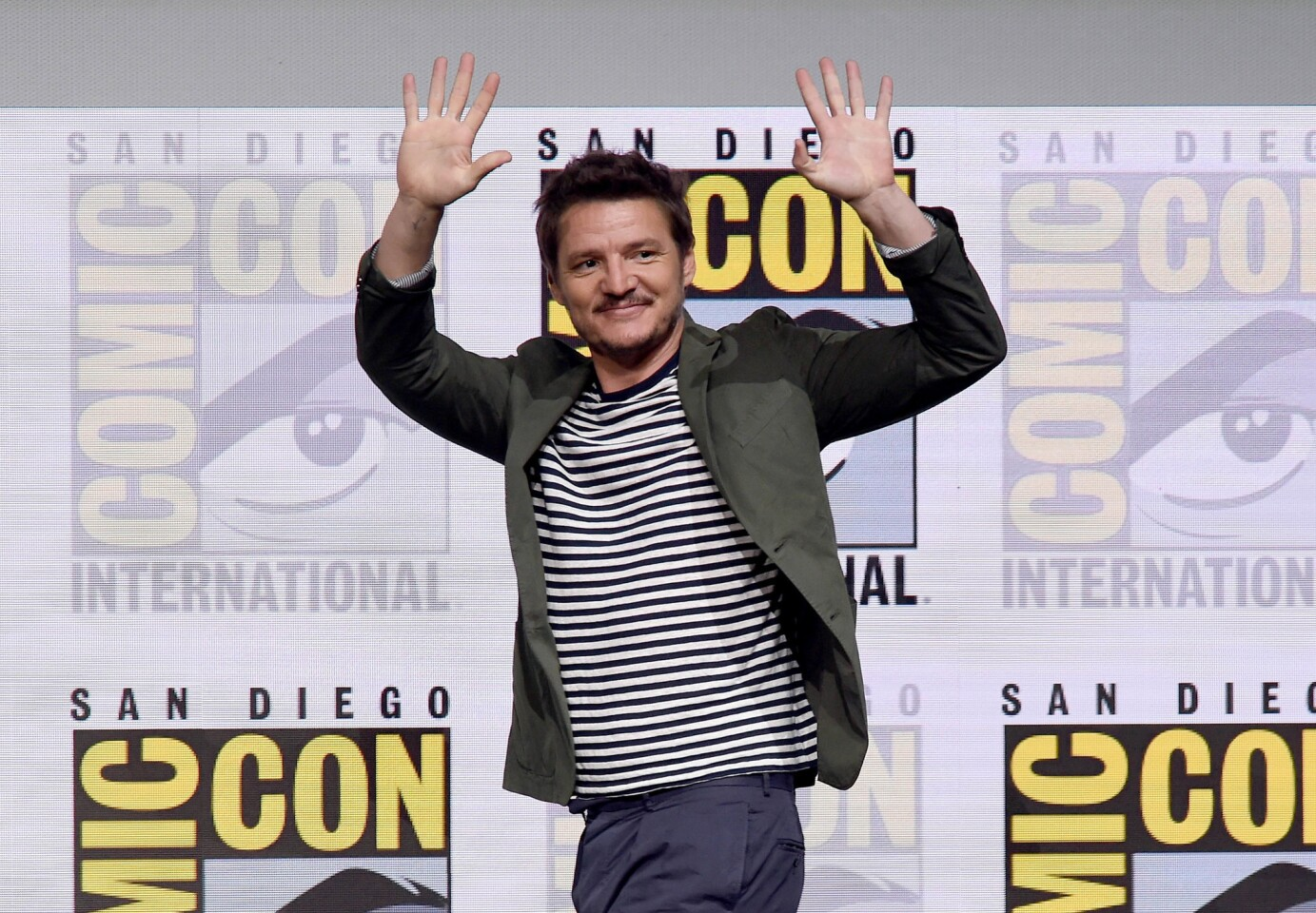 SAN DIEGO, CA - JULY 20: Actor Pedro Pascal walks onstage at the 20th Century FOX panel during Comic-Con International 2017 at San Diego Convention Center on July 20, 2017 in San Diego, California. (Photo by Kevin Winter/Getty Images) ** OUTS - ELSENT, FPG, CM - OUTS * NM, PH, VA if sourced by CT, LA or MoD **