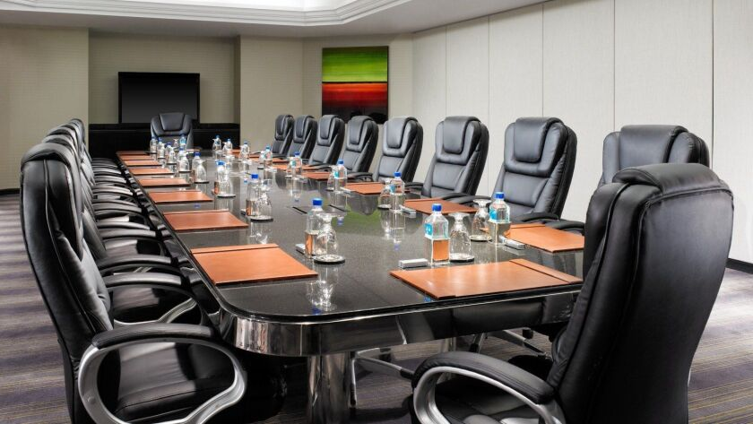 Executive boardroom at the Sheraton Gateway Los Angeles hotel.