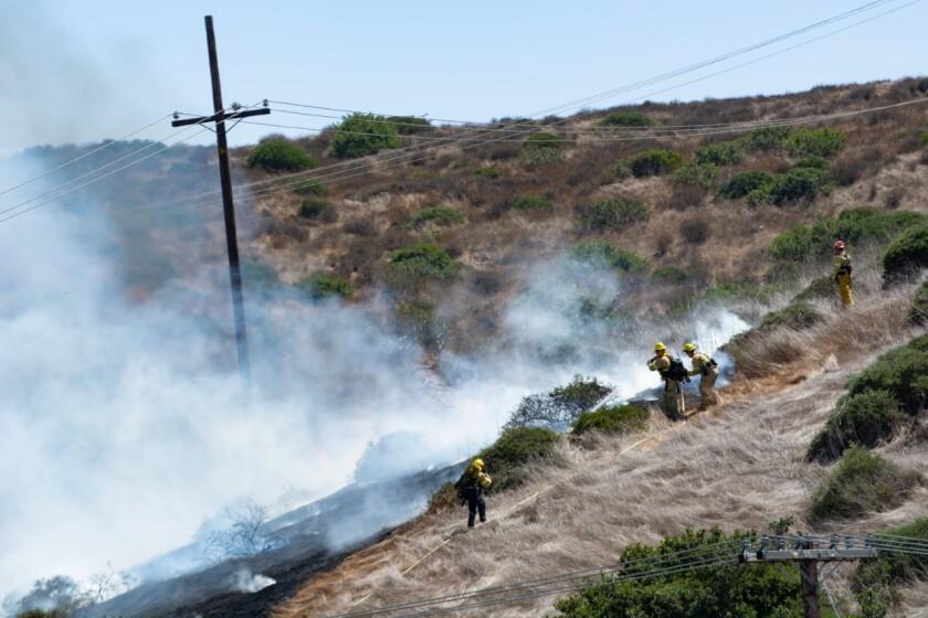 Incendio ladera Otay Mesa Road