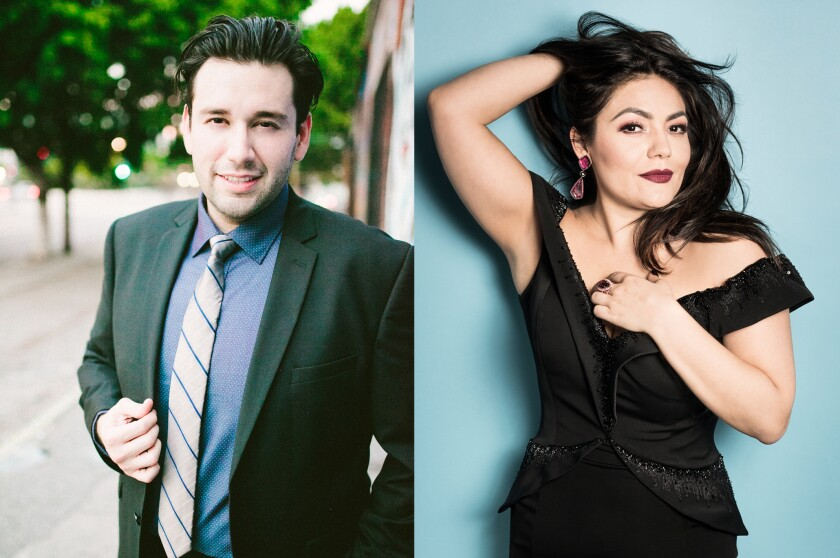 "Tenor Joshua Guerrero and soprano Ailyn Pérez will perform a dual recital, ""One Amazing Night,"" for San Diego Opera on Dec. 11 at the Balboa Theatre."