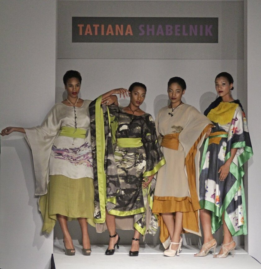 Looks from the fall and winter 2014 Tatiana Shabelnik collection, presented during Los Angeles Fashion Week.
