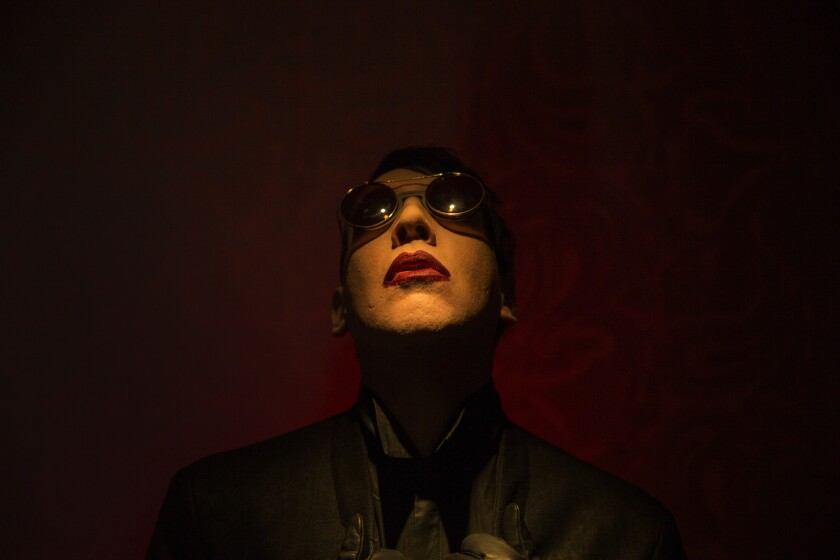 """Marilyn Manson's new album, """"The Pale Emperor,"""" led to a reassessment of his career, and on Thursday night a lifetime achievement award."""